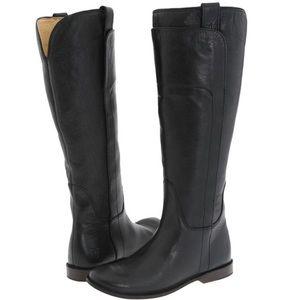 Frye Paige Riding Boots Dark Brown